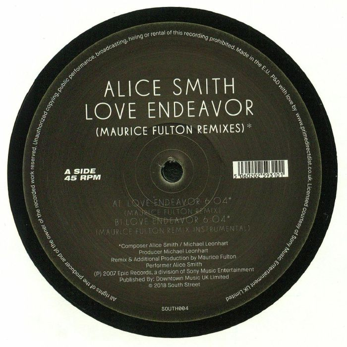 SMITH, Alice - Love Endeavor: Maurice Fulton Remixes