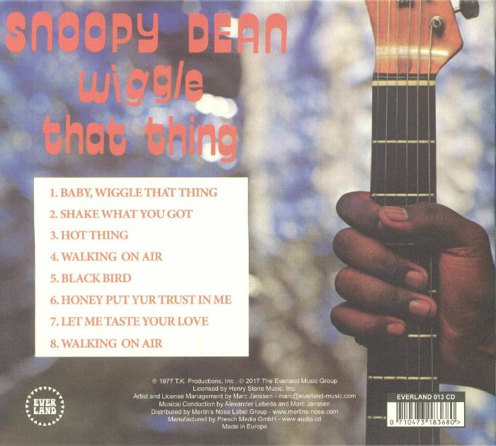 SNOOPY DEAN - Wiggle That Thing (reissue)