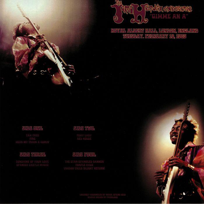JIMI HENDRIX EXPERIENCE, The - Gimme An A: Royal Albert Hall London England Tuesday Febuary 18 1969