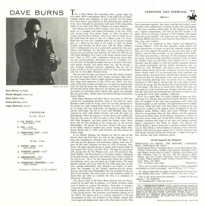 BURNS, Dave - Dave Burns