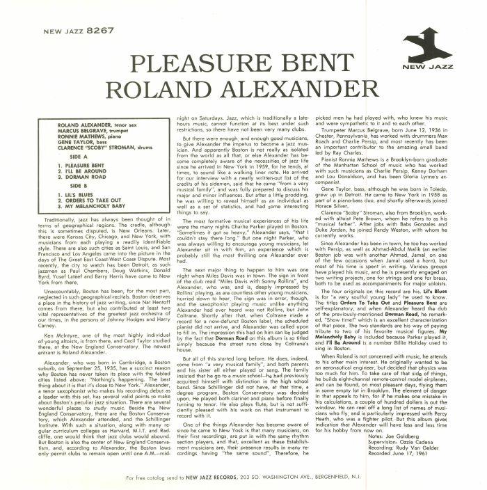 ALEXANDER, Roland with MARCUS BELGRAVE - Pleasure Bent