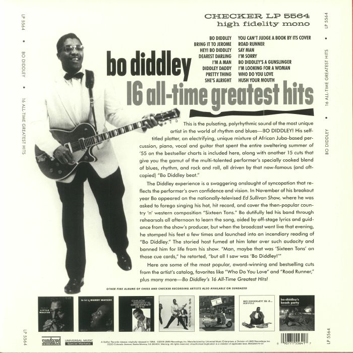 DIDDLEY, Bo - 16 All Time Greatest Hits (Record Store Day 2018)