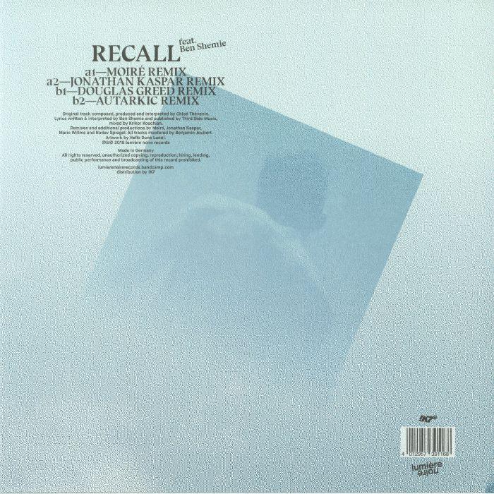 CHLOE feat BEN SHEMIE - Recall: Remixes