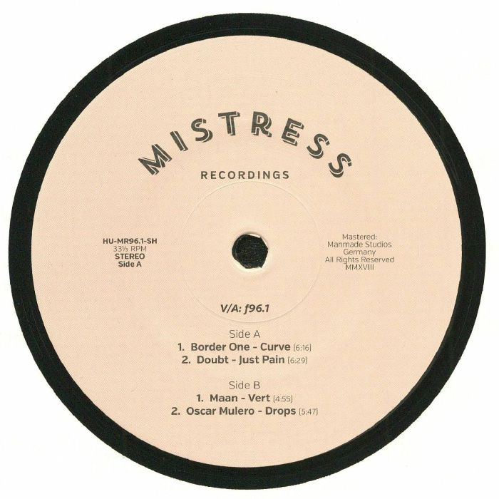 BORDER ONE/DOUBT/MAAN/OSCAR MULERO - Mistress Special Release EP 1