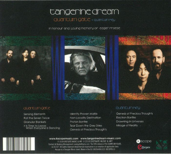 TANGERINE DREAM - Quantum Gate/Quantum Key