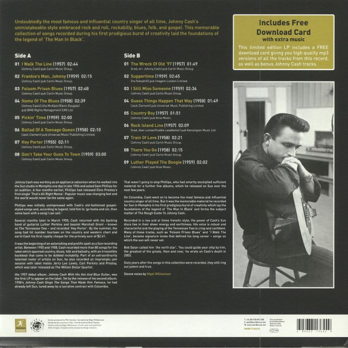 Johnny CASH A Rough Guide To Johnny Cash: Birth Of A Legend