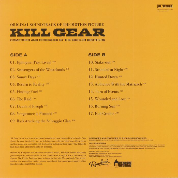 EICHLER BROTHERS, The - Kill Gear (Soundtrack)