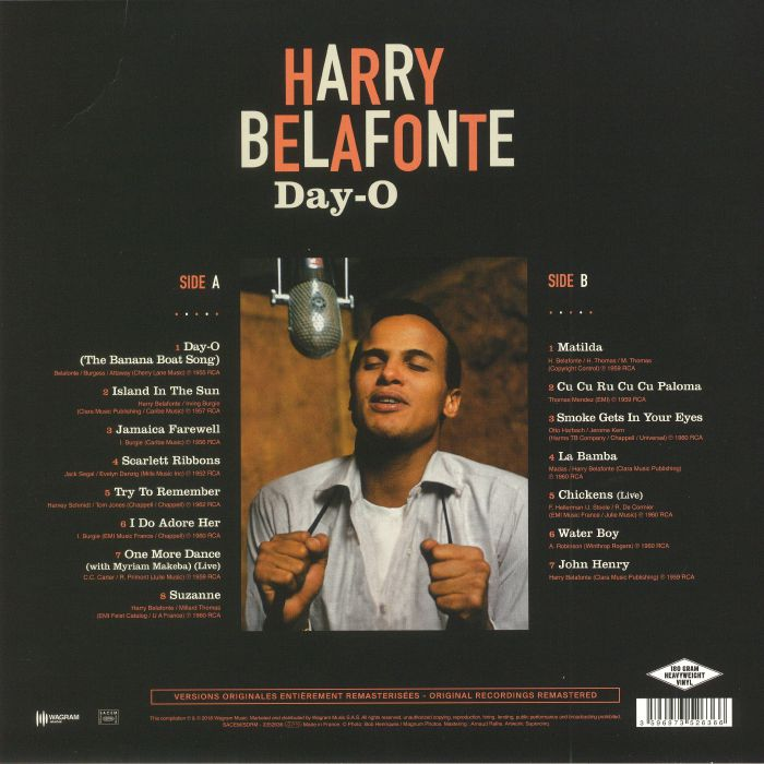 BELAFONTE, Harry - Day O (reissue)