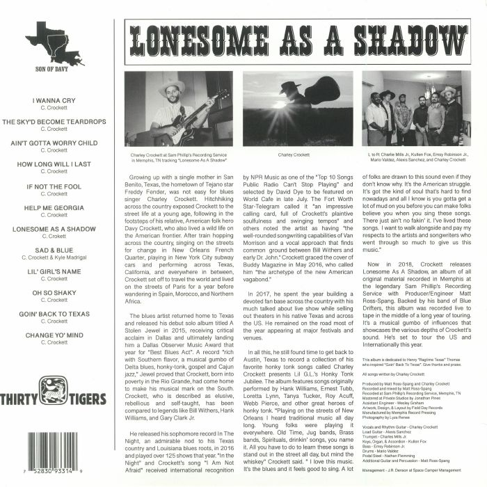 CROCKETT, Charley - Lonesome As A Shadow