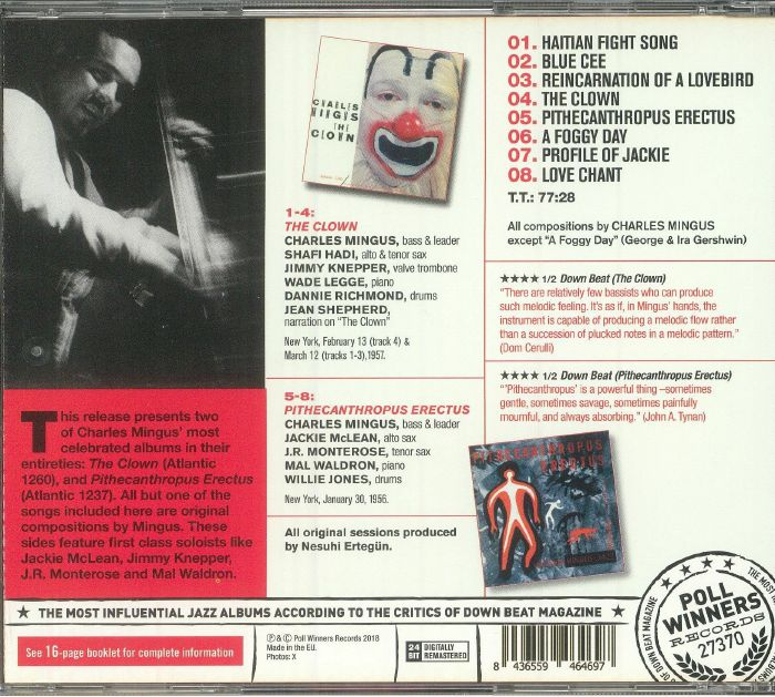 MINGUS, Charles - The Clown (remastered)
