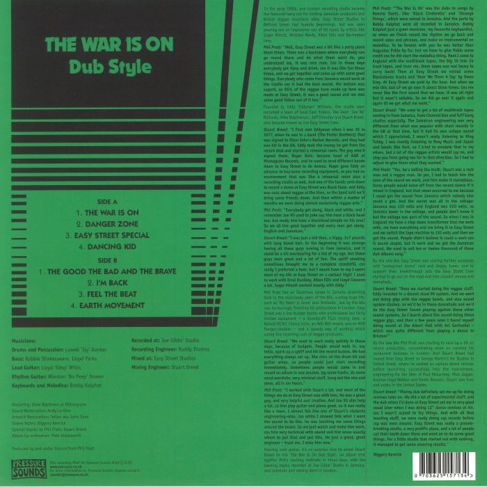 PRATT, Phil - The War Is On: Dub Style