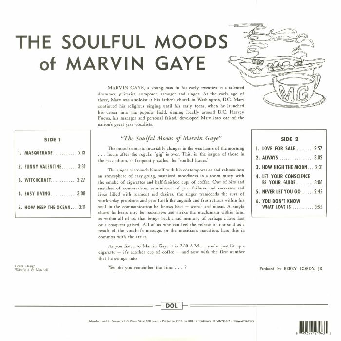 GAYE, Marvin - The Soulful Moods Of Marvin Gaye (reissue)