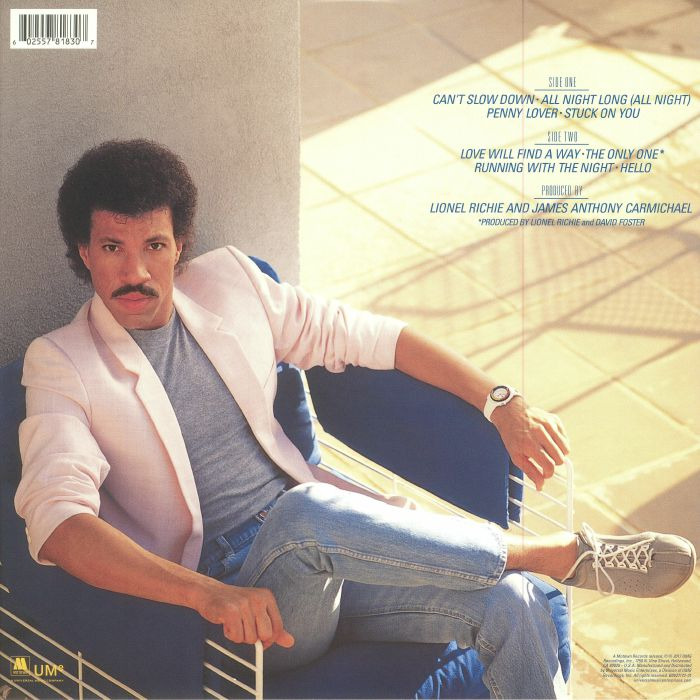 RICHIE, Lionel - Can't Slow Down (reissue)