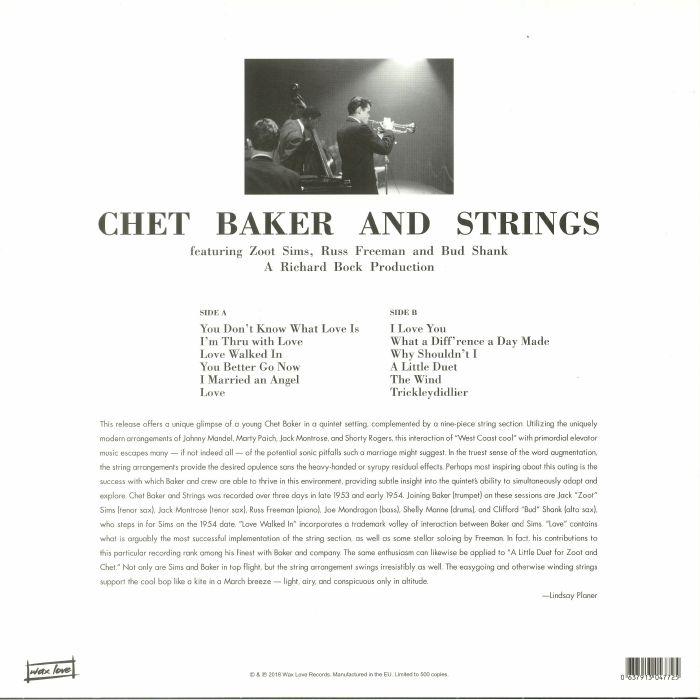 BAKER, Chet - Chet Baker & Strings (reissue)