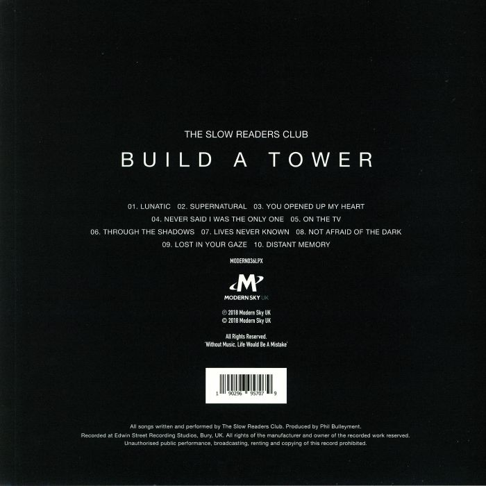 SLOW READERS CLUB, The - Build A Tower