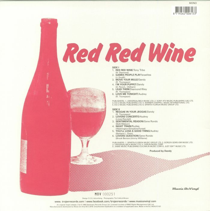 VARIOUS - Red Red Wine (mono)