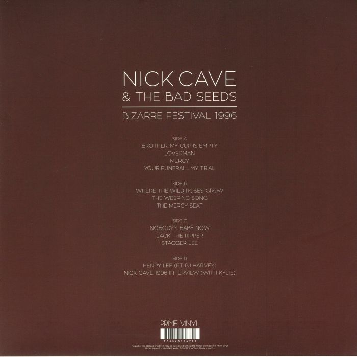 CAVE, Nick & THE BAD SEEDS - Bizarre Festival 1996