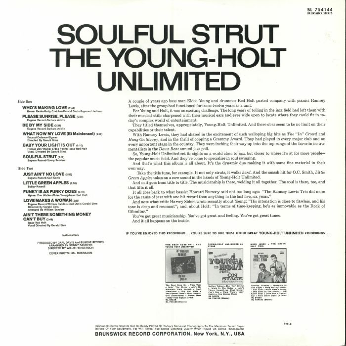 YOUNG HOLT UNLIMITED, The - Soulful Strut