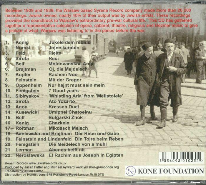 VARIOUS - Warsaw's Jewish Mermaid: Syrena Records 1909-1933
