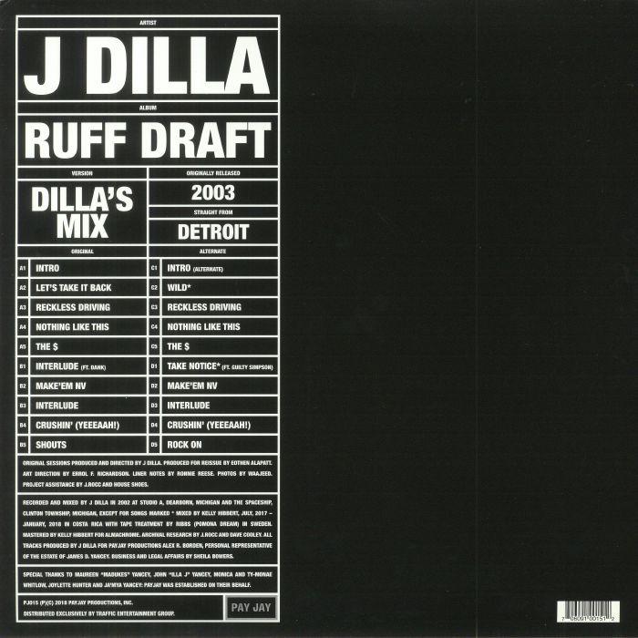 J DILLA - Ruff Draft : The Dilla Mix (Record Store Day 2018)