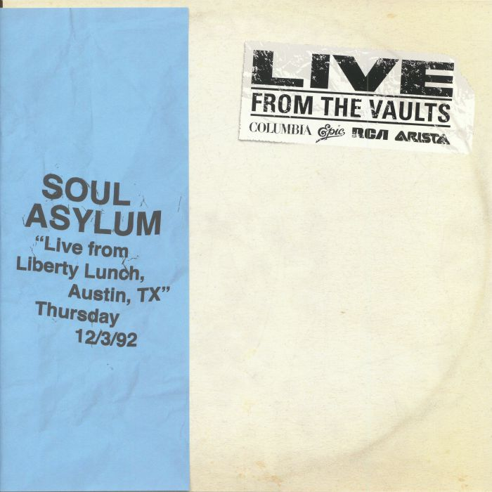 SOUL ASYLUM - Live From Liberty Lunch Austin TX Thursday December 3 1992 (Record Store Day 2018)