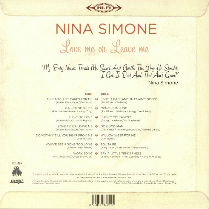 SIMONE, Nina - Love Me Or Leave Me