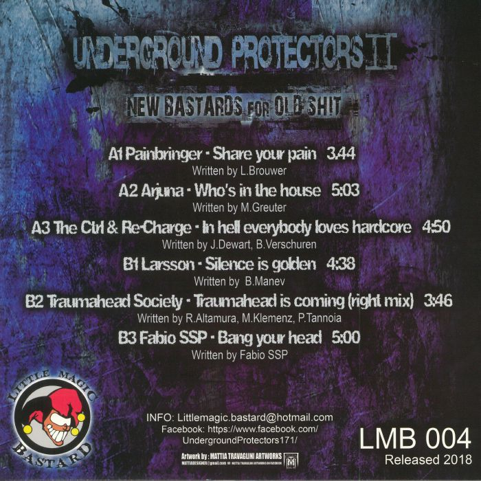 PAINBRINGER/ARJUNA/THE CTRL & RE-CHARGE/LARSSON/TRAUMAHEAD SOCIETY/FABIO SSP - Underground Protectors II: New Bastards For Old Shit