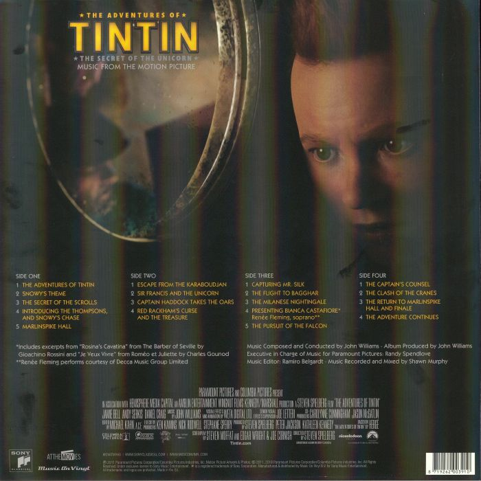 WILLIAMS, John - Adventures Of TinTin: The Secret Of The Unicorn (Soundtrack)