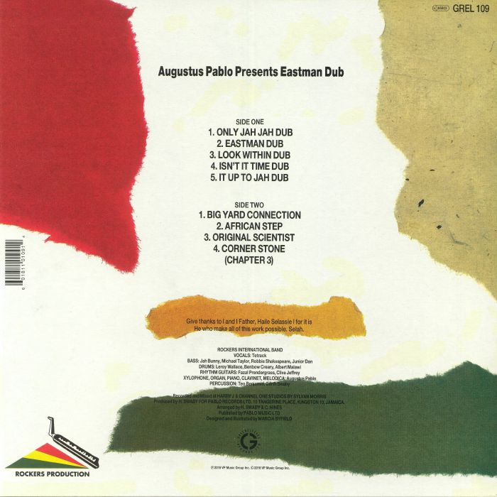 PABLO, Augustus - Eastman Dub (reissue)