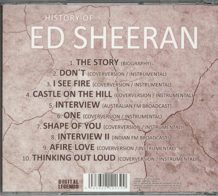 SHEERAN, Ed - History Of Ed Sheeran