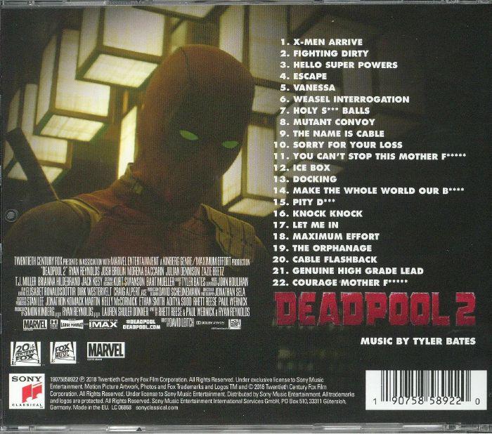 Tyler Bates Deadpool 2 Soundtrack Vinyl At Juno Records