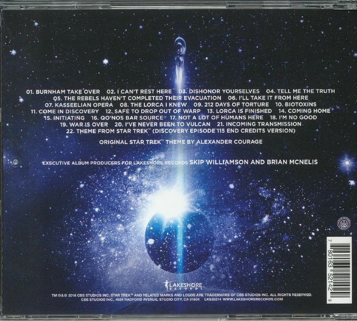 RUSSO, Jeff - Star Trek Discovery Season 1 Chapter 2 (Soundtrack)