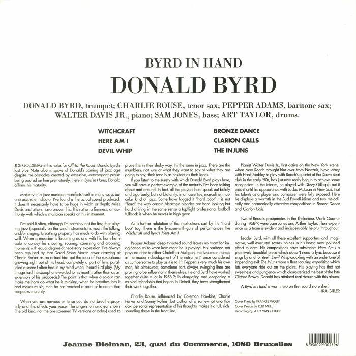BYRD, Donald - Byrd In Hand (reissue)