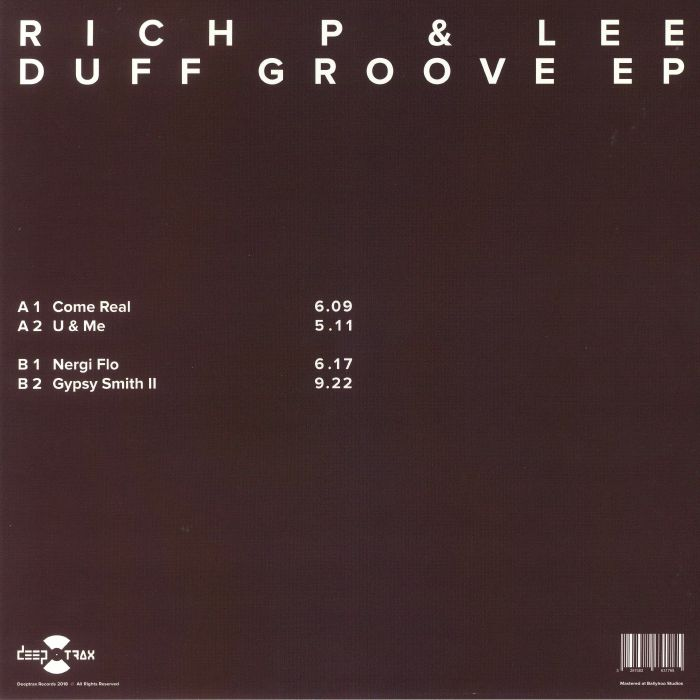 RICH P & LEE - Duff Groove EP