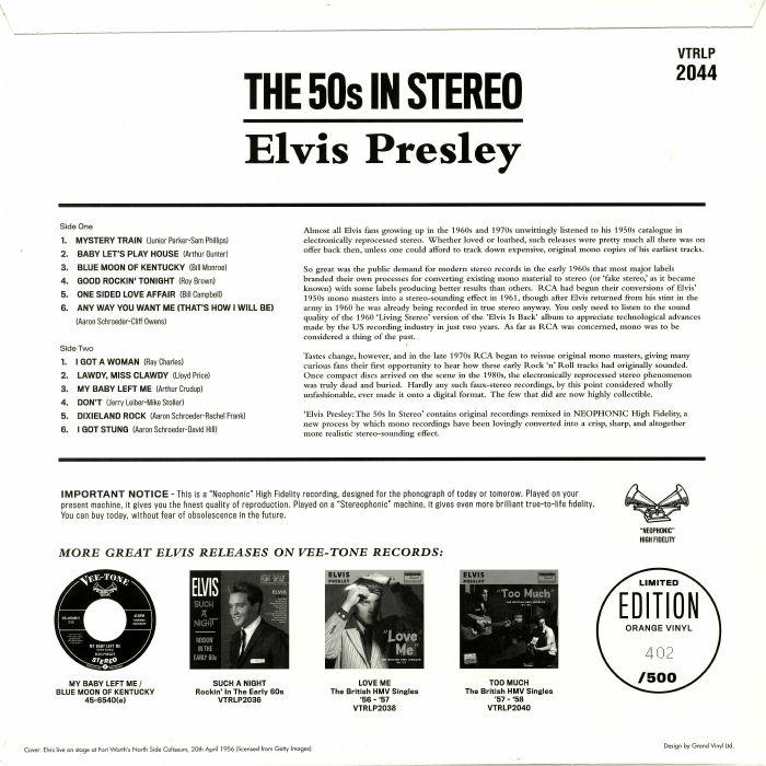PRESLEY, Elvis - The 50s In Stereo