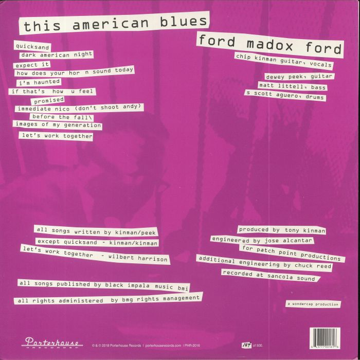 FORD MADOX FORD - This American Blues