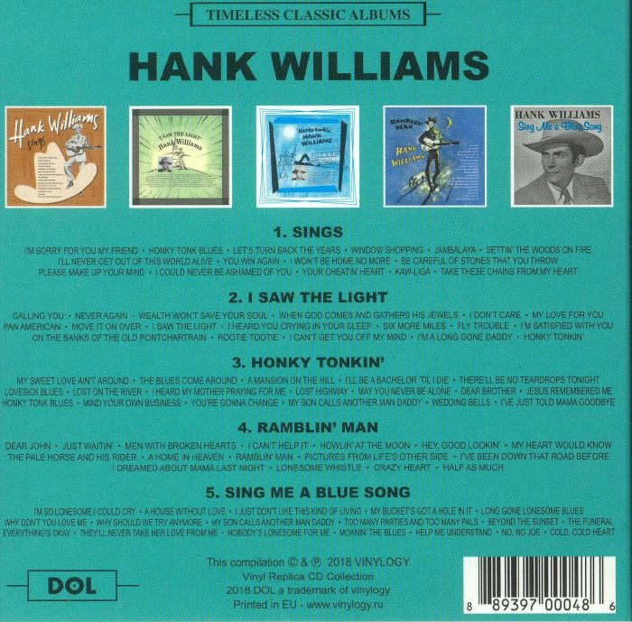 WILLIAMS, Hank - Timeless Classic Albums