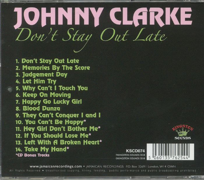 CLARKE, Johnny - Don't Stay Out Late