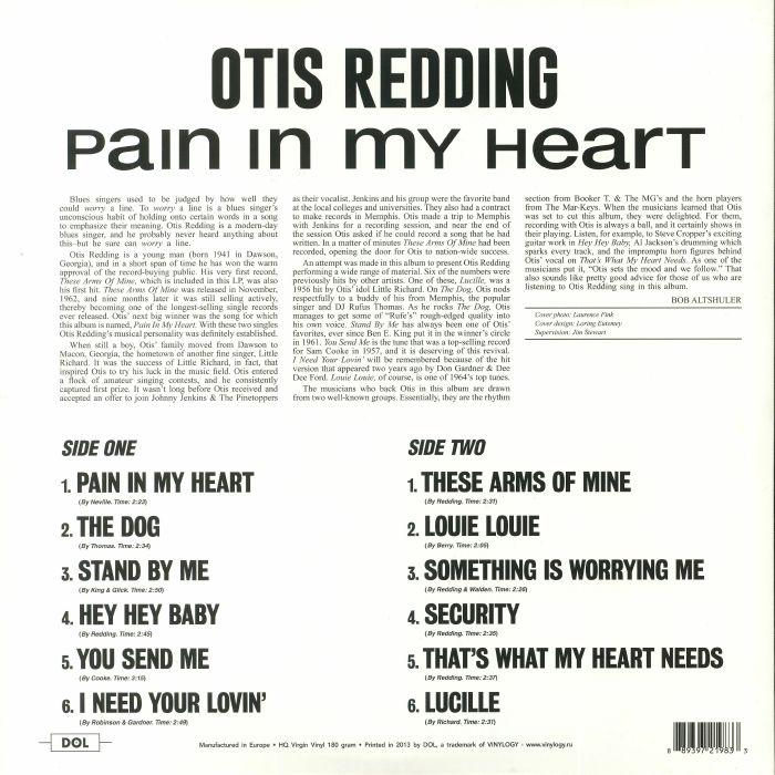 REDDING, Otis - Pain In My Heart (reissue)