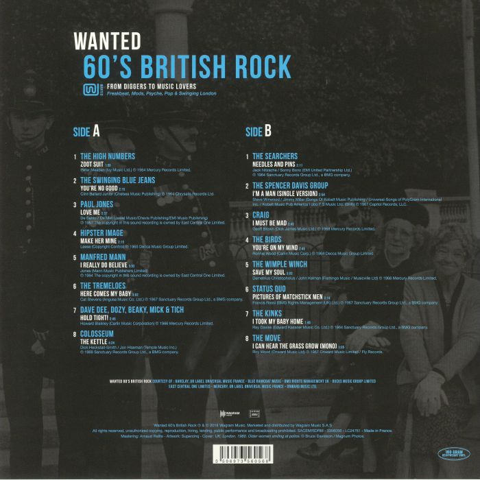 VARIOUS - Wanted: 60's British Rock
