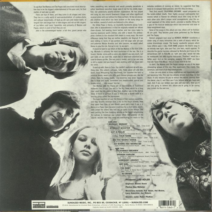 MAMAS & THE PAPAS, The - If You Can Believe Your Eyes And Ears (reissue) (mono)