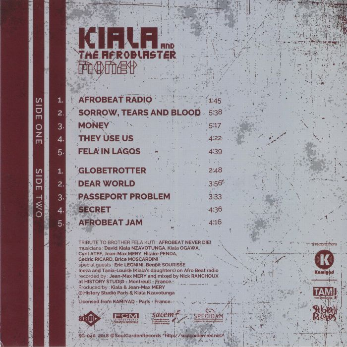 KIALA & THE AFROBLASTER - Money