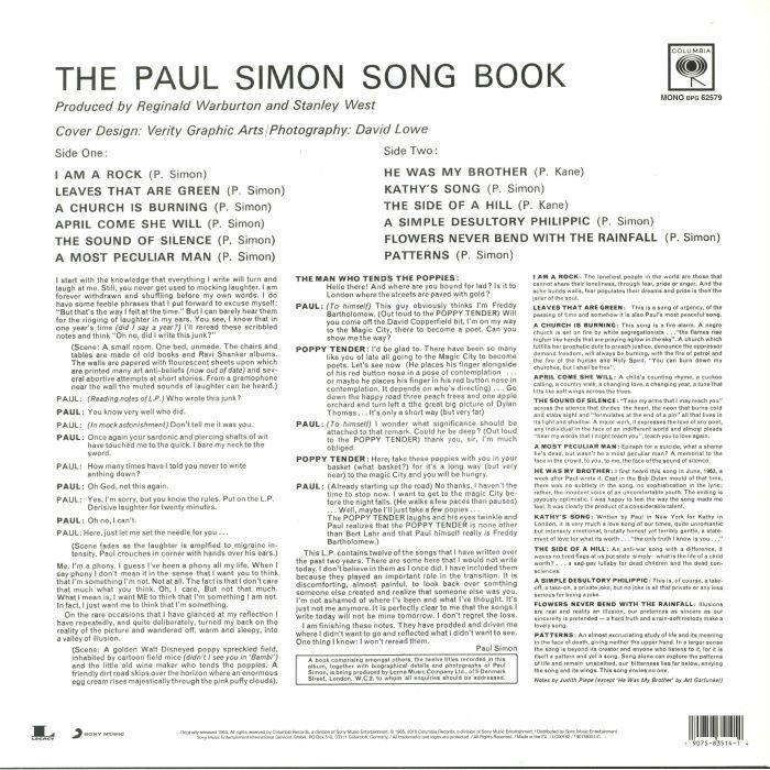 SIMON, Paul - The Paul Simon Songbook