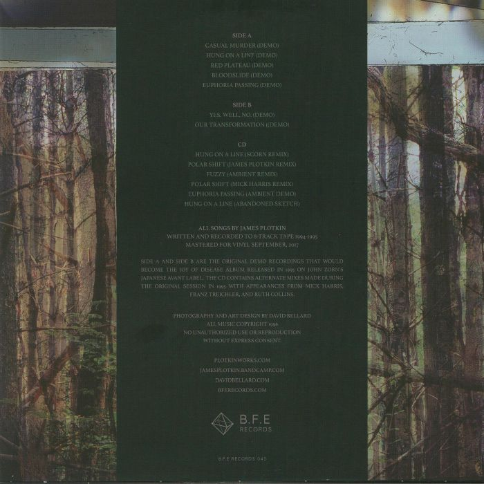PLOTKIN, James - The Joy Of Disease: Demos & Remixes