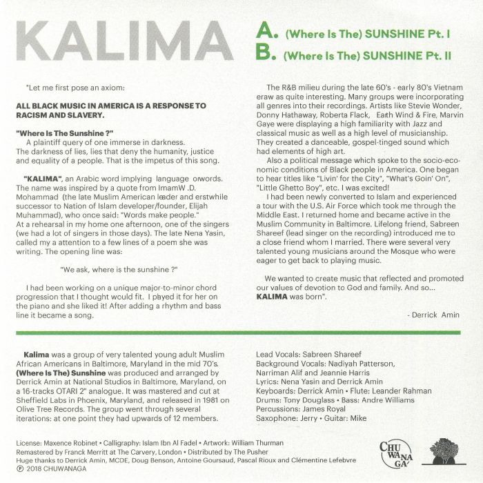 KALIMA - (Where Is The) Sunshine