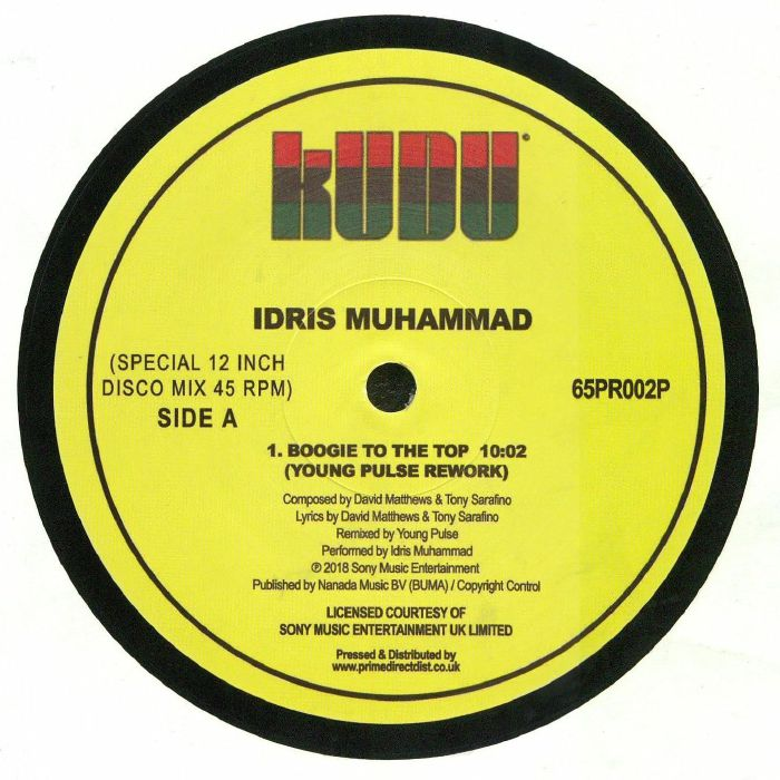 MUHAMMAD, Idris - Boogie To The Top (Young Pulse rework)