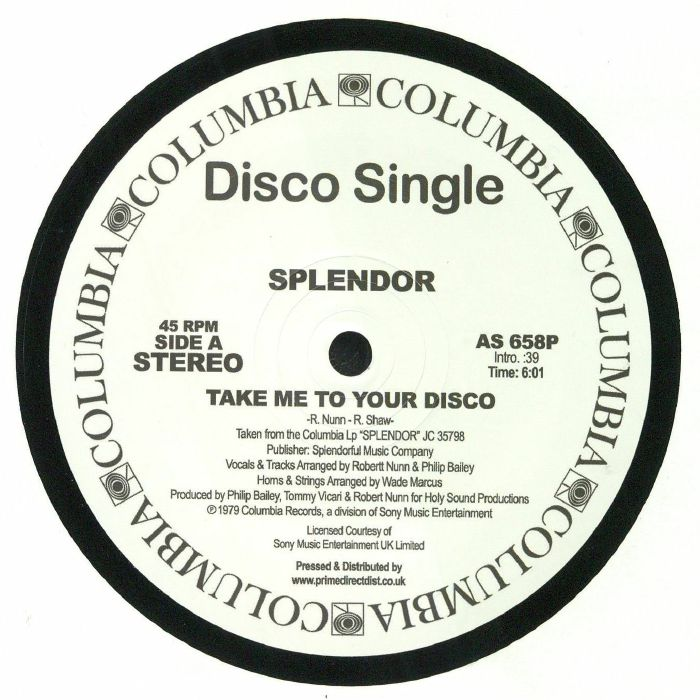 SPLENDOR - Take Me To Your Disco