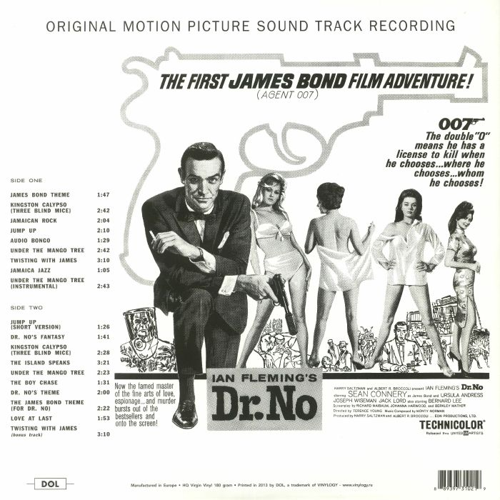 NORMAN, Monty - Ian Fleming's Dr No: The First James Bond Film Adventure! (Soundtrack) (reissue)