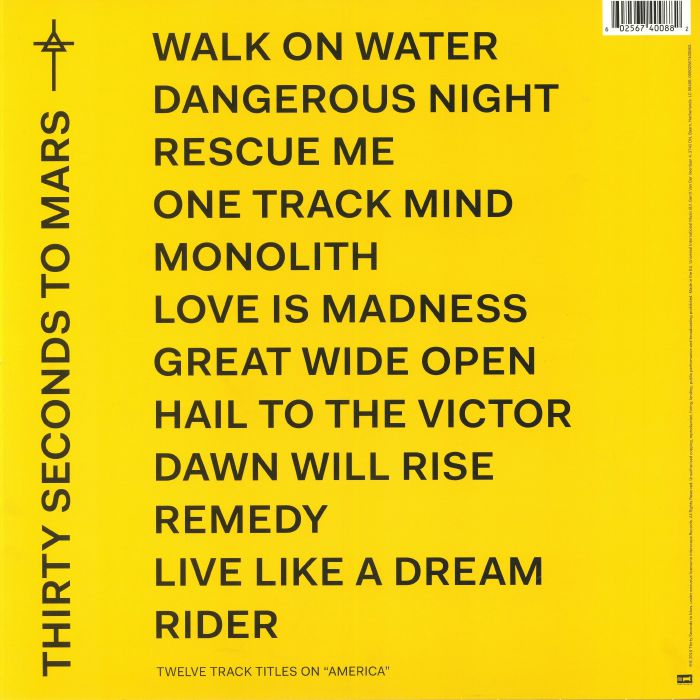 THIRTY SECONDS TO MARS - America