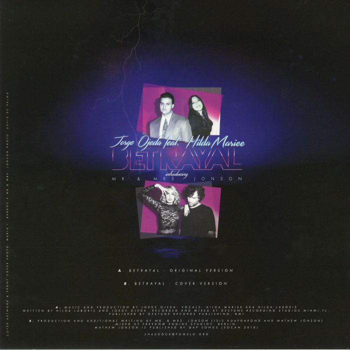 OJEDA, Jorge feat HILDA MARIEE/MR & MRS JONSON - Betrayal